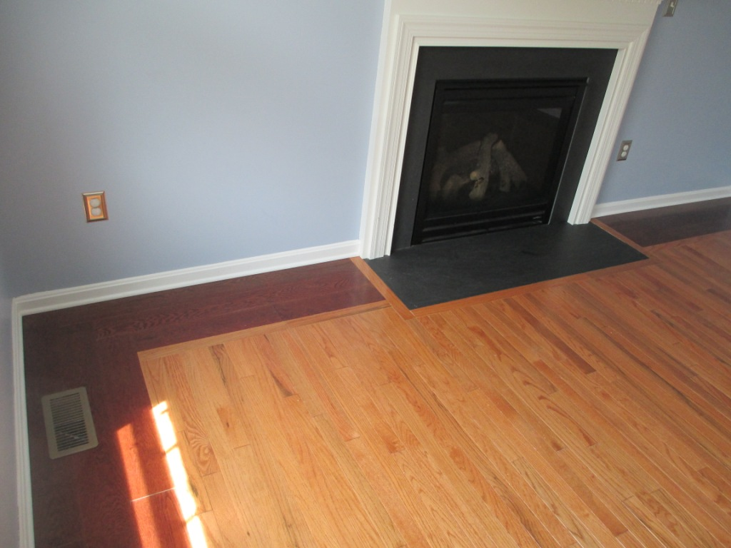 hardwood flooring oak inlay border excellent quality very stylish install timely professional State College