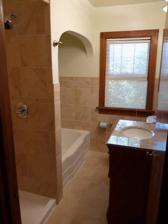 Bathroom renovation, custom tile, color coordinated, well designed, excellent craftsmanship, satisfied customers
